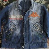 Крутой джинсовый пиджак для стильного парня!!!