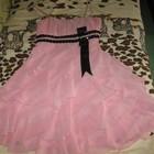 платье шифоновое розовая пыль
