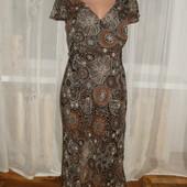 платье от marks&spencer двойной шифон.