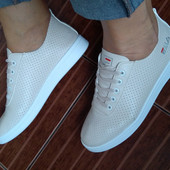 Нереальные молочные! Нежные, мягусенькие кроссовки, кеды р.36-41, полномерные! Качество - супер!!!