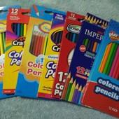 супер яркие  и мягкие карандаши Crayons, деревянные лот 2 упаковки, смотрите другие мои лоты