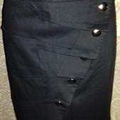 Черная юбка в школу, вуз, офис новое состояние