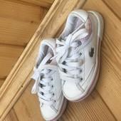 Детские кеды Lacoste 21р 13.5 см Белые,для девочки