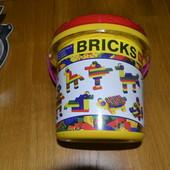 Конструктор bricks 48 дет+ сортер+ часики.