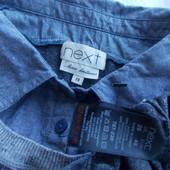 Новый, стильный джемпер с рубашкой(обманка) от Next , р.20 (54-56)