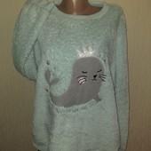 Плюшевая пижамная кофта большой размер 20-22 замеры на фото