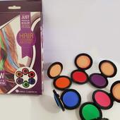 ✅ Мелки цветные для волос farres cosmetics hair coloring artifact  6 ШТ