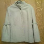 Пальто демисезонное сиреневое