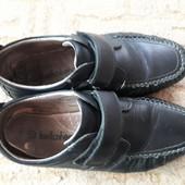 Кожаные туфли для мальчика, стелька 23см