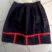 Красивая юбка с кружевом, р. 46-48