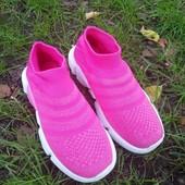 Новинка! Кроссовки - носок для девочек - комфорт и удовольствие 34 размер ( мой пролет)
