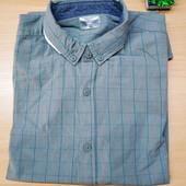 Качественная и комфортная котоновая рубашка! М -ка 38/40.
