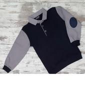 Рубашка обманка с серыми рукавами