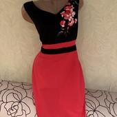 Роскошное плотное платье на подкладке, сток люкс!!! Ткань не тянется, не просвечивает