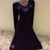 Роскошное темно-синее платье, сток люкс!!! 92% вискоза, 8% эластан. Ткань тянется, не просвечивает