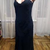 Платье из шелка с вышивкой ,бусинками и пайетками