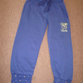 Новые! спортивные штаны на 4-5 лет. 95% хлопок!