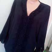 В идеале √√ Пог 65 см √√ чёрная красивая шифоновая блузка