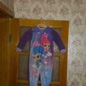 Стоп! Слип-пижама для малышки от Дисней ♥ Флис ♥ Много лотов, собирайте!