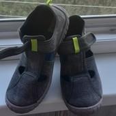 Тканевые натуральные макасины сандали для мальчика ,стелька 21,5.Superfit