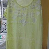 Фирменная лимонная футболка в состоянии новой вещи р. 16-18