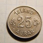 Монета. Исландия. 25 эйре 1965 года!