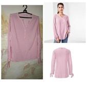 48-52р_стильная полосатая блуза, блузка от tchibo, германия