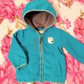 Непродуваемая плотная флисовая куртка на мальчика 1-1,5г от d-generation.