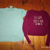 Стильні речі дівчинці 140-146 см футболка і топ одним лотом)