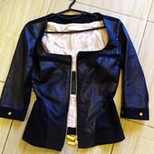 Брендовая кожанная куртка ветровка пиджак из кожи ягненка Gil santucci