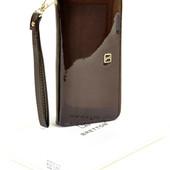 Кошелек-сумочка Bretton натуральная лаковая кожа Отличный подарок