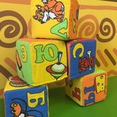 5 кубиков с буквами, мягкие кубики одним лотом