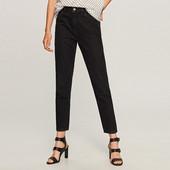 Чёрные джинсы Reserved в 40р(м-л), прямые, высокая посадка