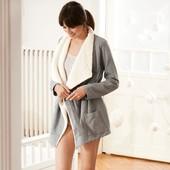 ☘ Шикарный, теплющий плюшевый халат-пальто, Tchibo(Германия), размеры наши: 46-50 (40/42 евро)