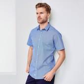 Рубашка с коротким рукавом,Tchibo(Германия) 52-54 (L евро),ворот 41/42