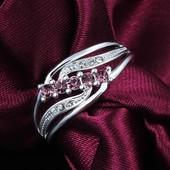 Красивое кольцо с пробой 925 р 18 ф1 или в цвете серебра р 19,20 на выбор