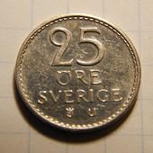Монета. Швеция. 25 эре 1973 года.