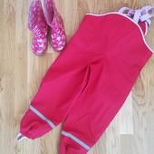 Полукомбинезон дождевые штаны для девочки на рост 110 - 116 TCM и резиновые сапожки