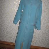 Нежный флисовый халат с вышивкой 12-14 р., грудь 55,M&S,