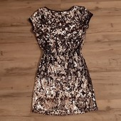 Шикарное платье полностью в паетках размер S-M