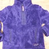 Плюшевая флиска теплая в отличном состоянии для девочки 7-8 лет