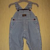 Фирменный джинсовый утепленный комбинезон OshKosh (ОшКош), на 6 месяцев , рост 69см, новый