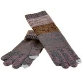 Перчатки женские шерсть вязаные для сенсорных экранов
