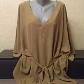 Шикарная фирменная блузка New Look (Нью Лук), разм:uk 26,eur 54, новая,качественная, мерки есть