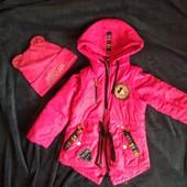 Куртка - жилетка 2в1 + шапка