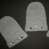 Модная шапка с ювилирными камнями(камни пришиты) вязаная шапка-бини Аccessories