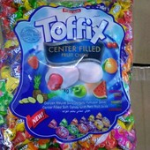 Лакомство для взрослых и детей! Жевательные конфеты с фруктовой начинкой Toffix!