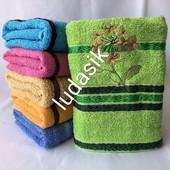 Яркие полотенца для лица красивых расцветок. 100 % хлопок Размер 100/50