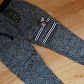Отличные теплые спортивные штаны на флисе (байке)