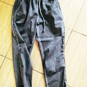 Фирменные модные спортивные штаны брюки серый с серебряными лампасами Италия оригинал